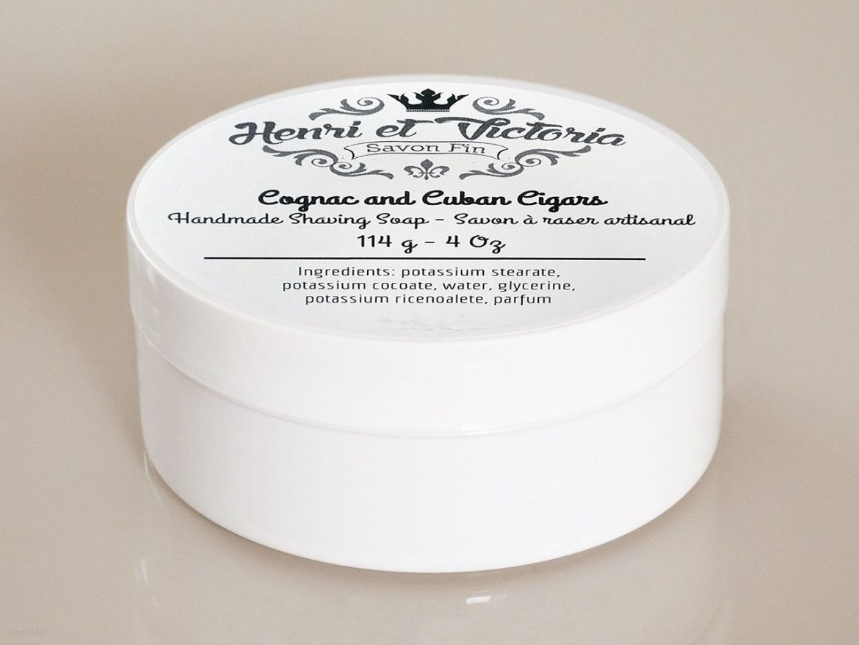 Opakowanie mydła do golenia Henri et Victoria Cognac and Cuban Cigars Shaving Soap
