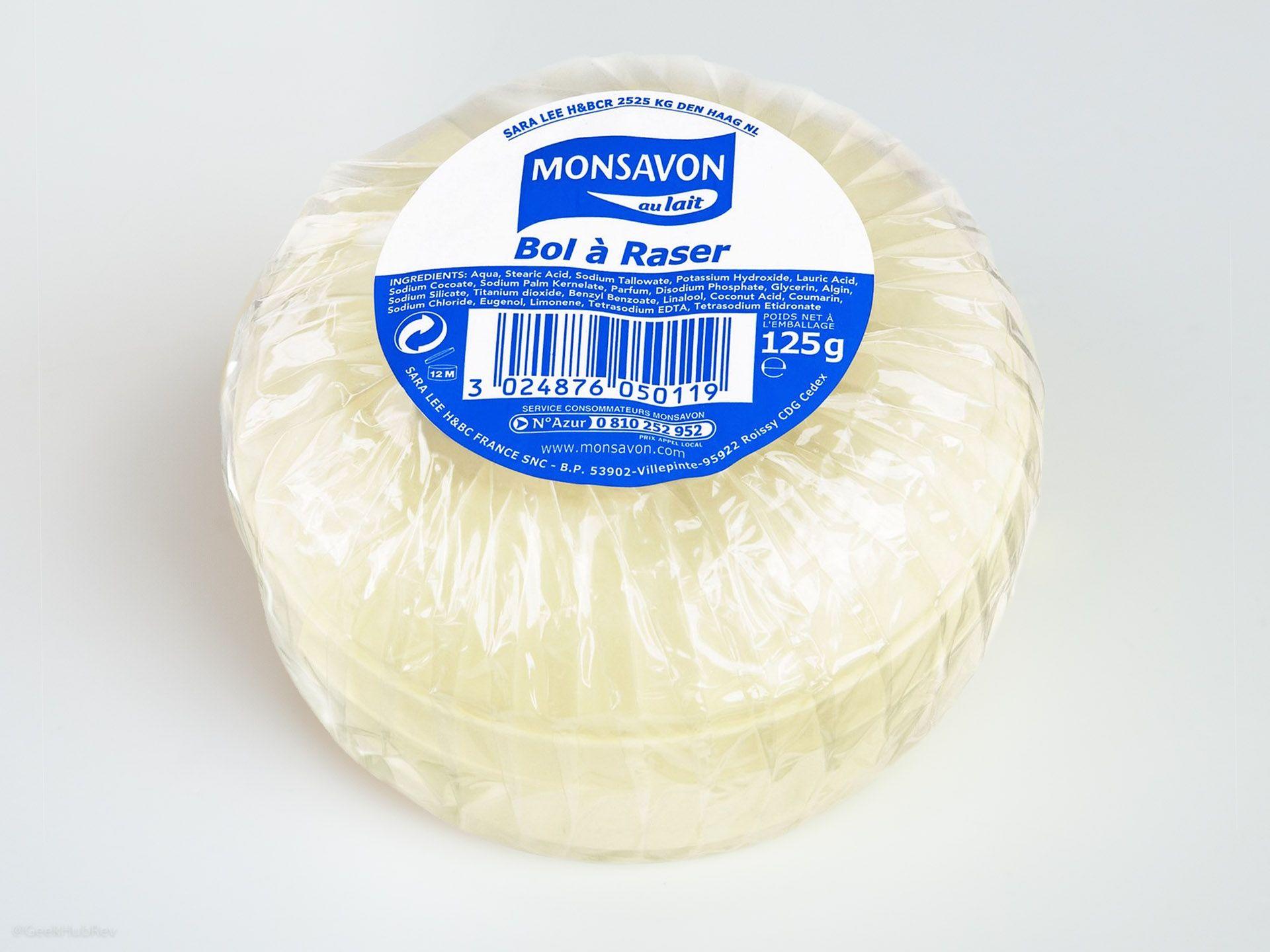Opakowanie mydła do golenia Monsavon Bol à Raser przed 2010 rokiem