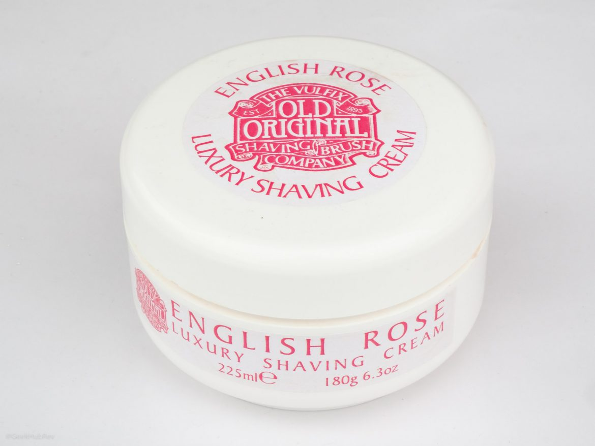 Opakowanie kremu do golenia Vulfix English Rose Shaving Cream