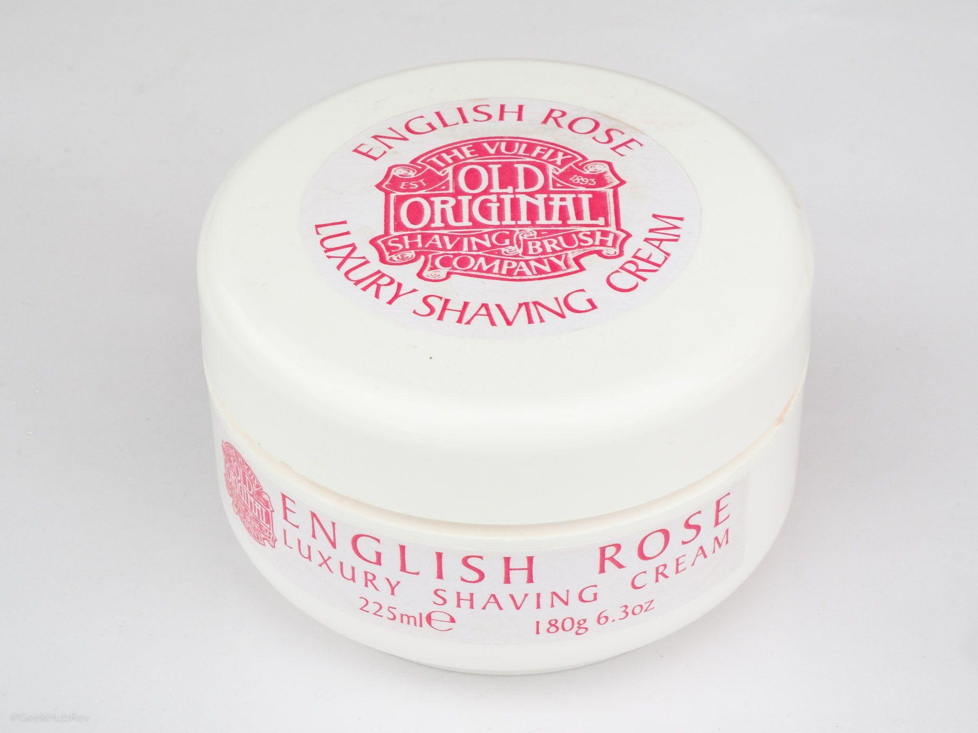 Opakowanie kremu do golenia Vulfix English Rose Shaving Cream