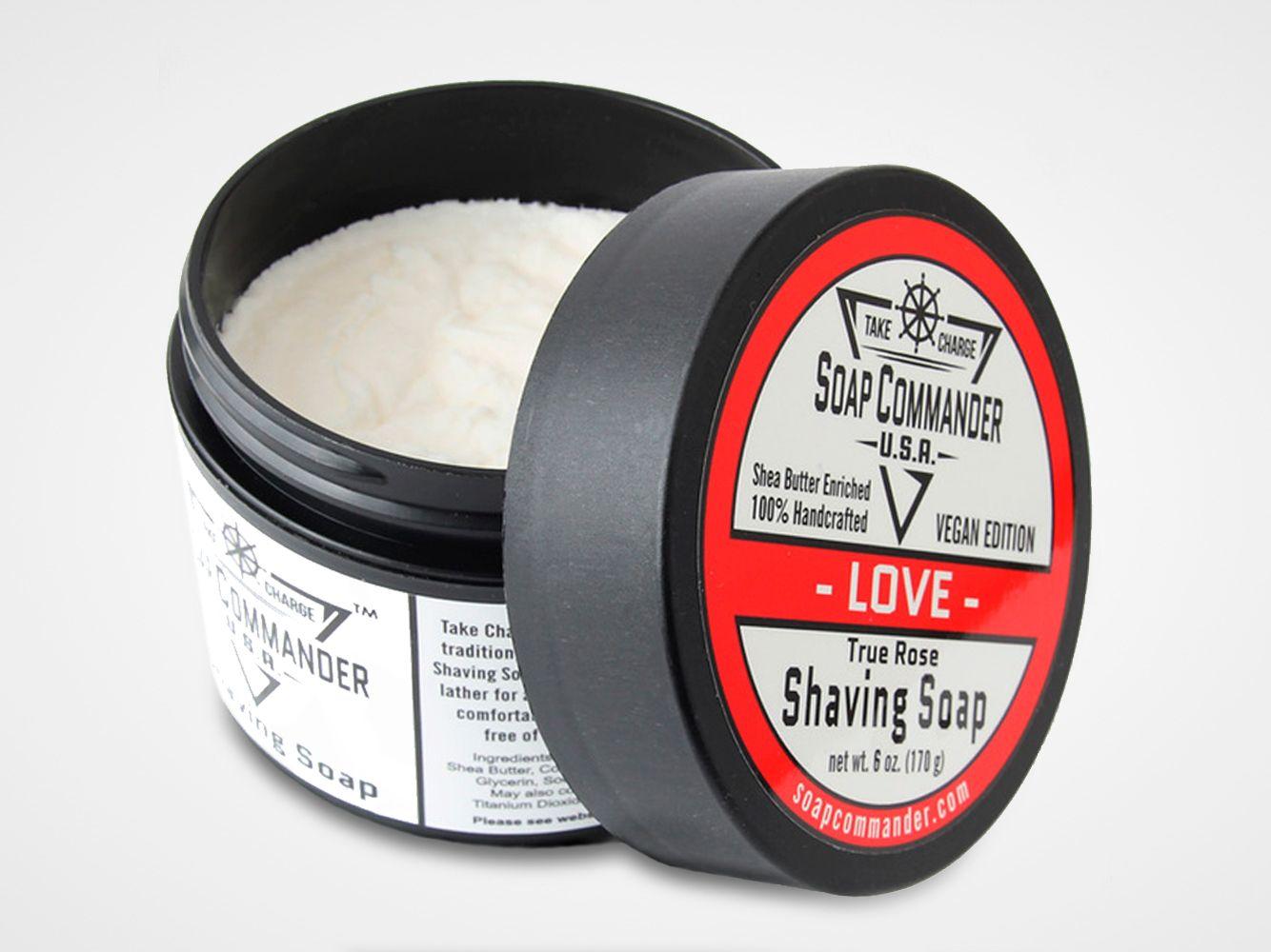 Mydło do golenia Soap Commander Love Shaving Soap (grafika poglądowa, stara wersja etykiety)
