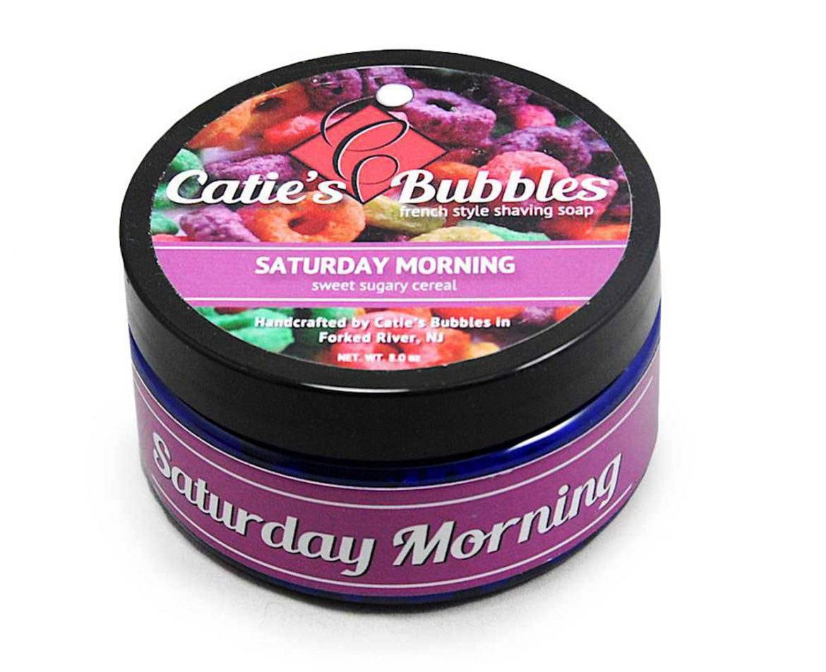 Opakowanie mydła do golenia Catie's Bubbles Saturday Morning Shaving Soap