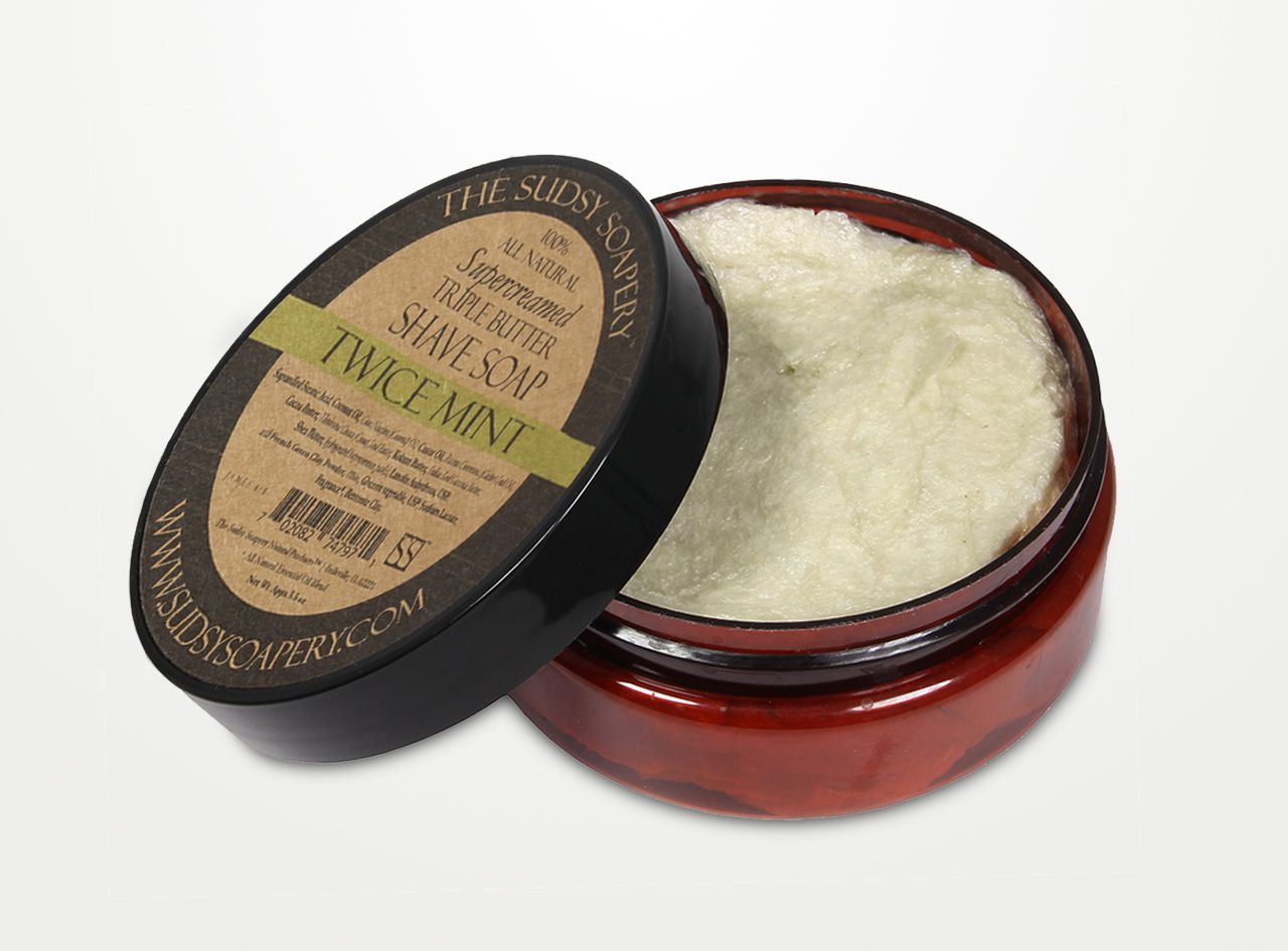 Mydło do golenia The Sudsy Soapery Twice Mint Shaving Soap (zdjęcie The Sudsy Soapery)