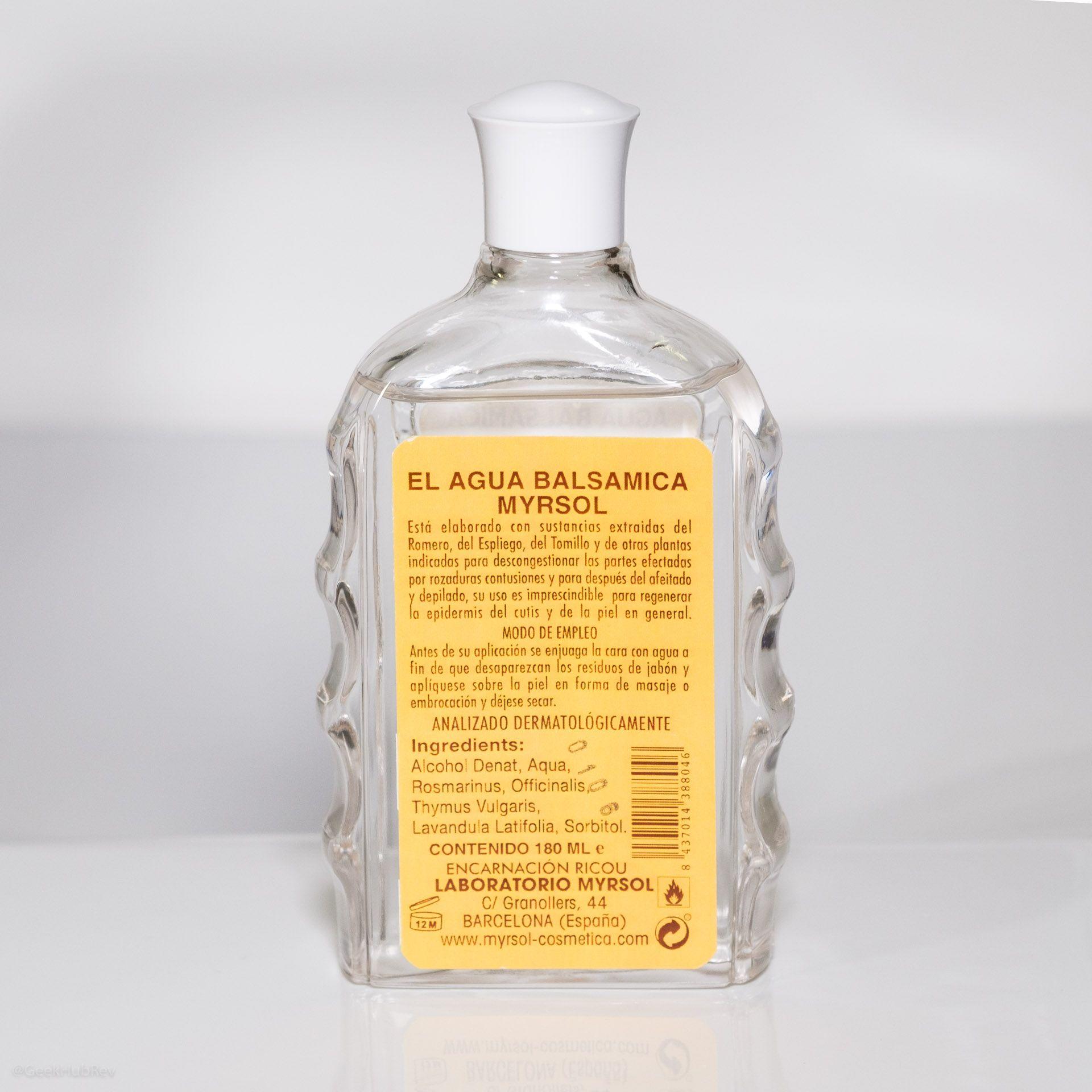 Etykieta ze składem Myrsol Aqua Balsamica After Shave W