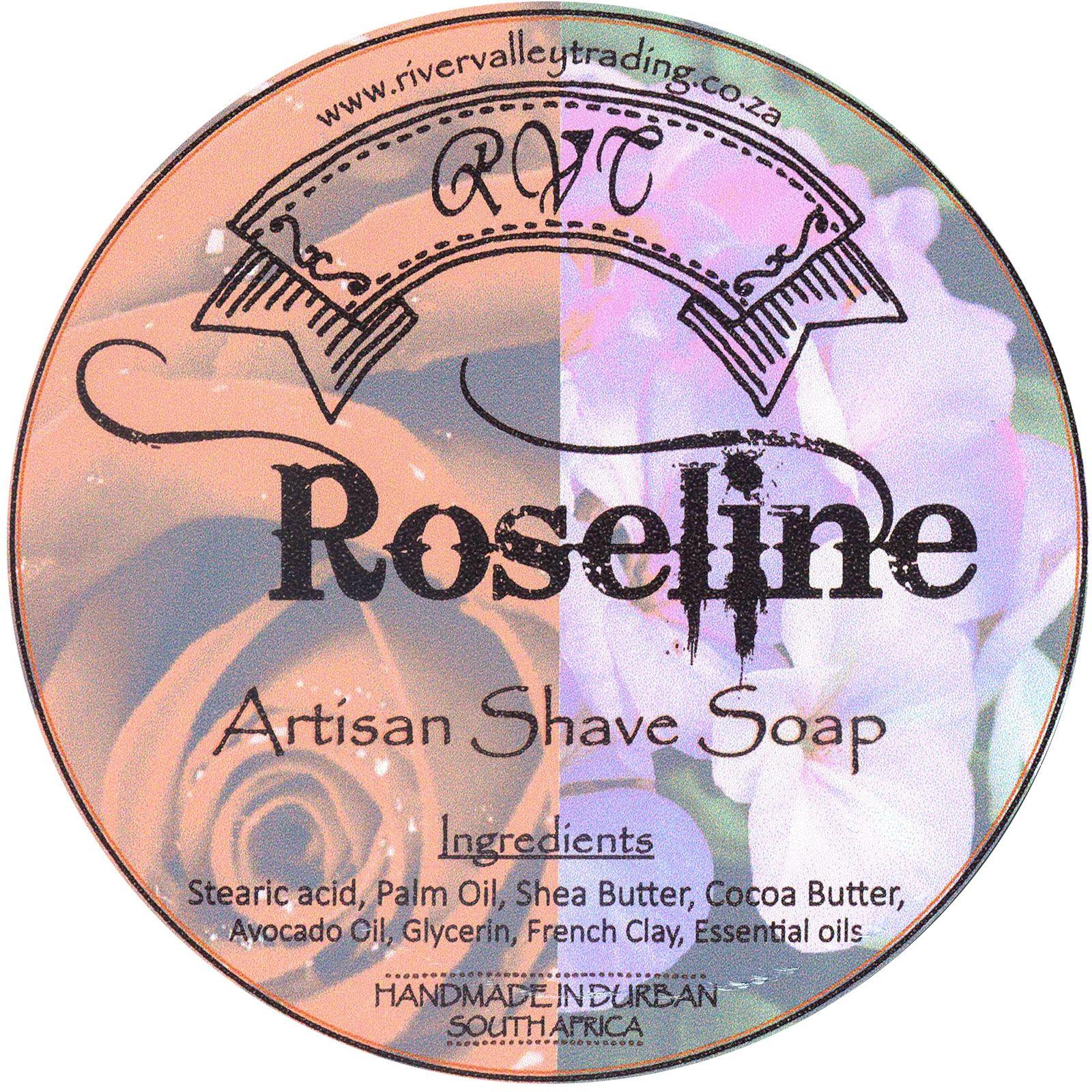 RVT Roseline Shaving Soap – etykieta ze składem