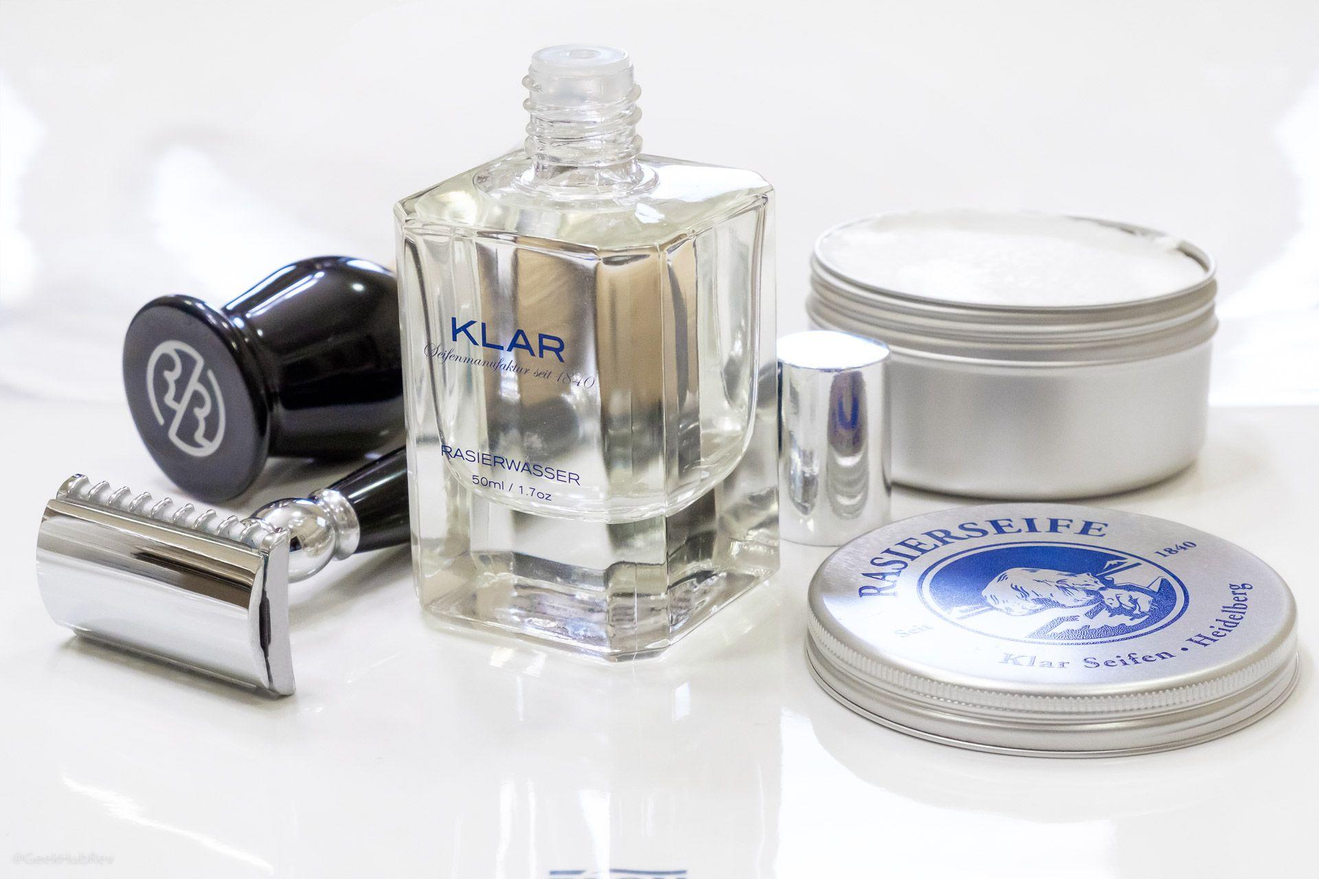 Klar Rasierwasser i Rasierseife – pierwsze wrażenia po użyciu mydła do golenia i wody po goleniu