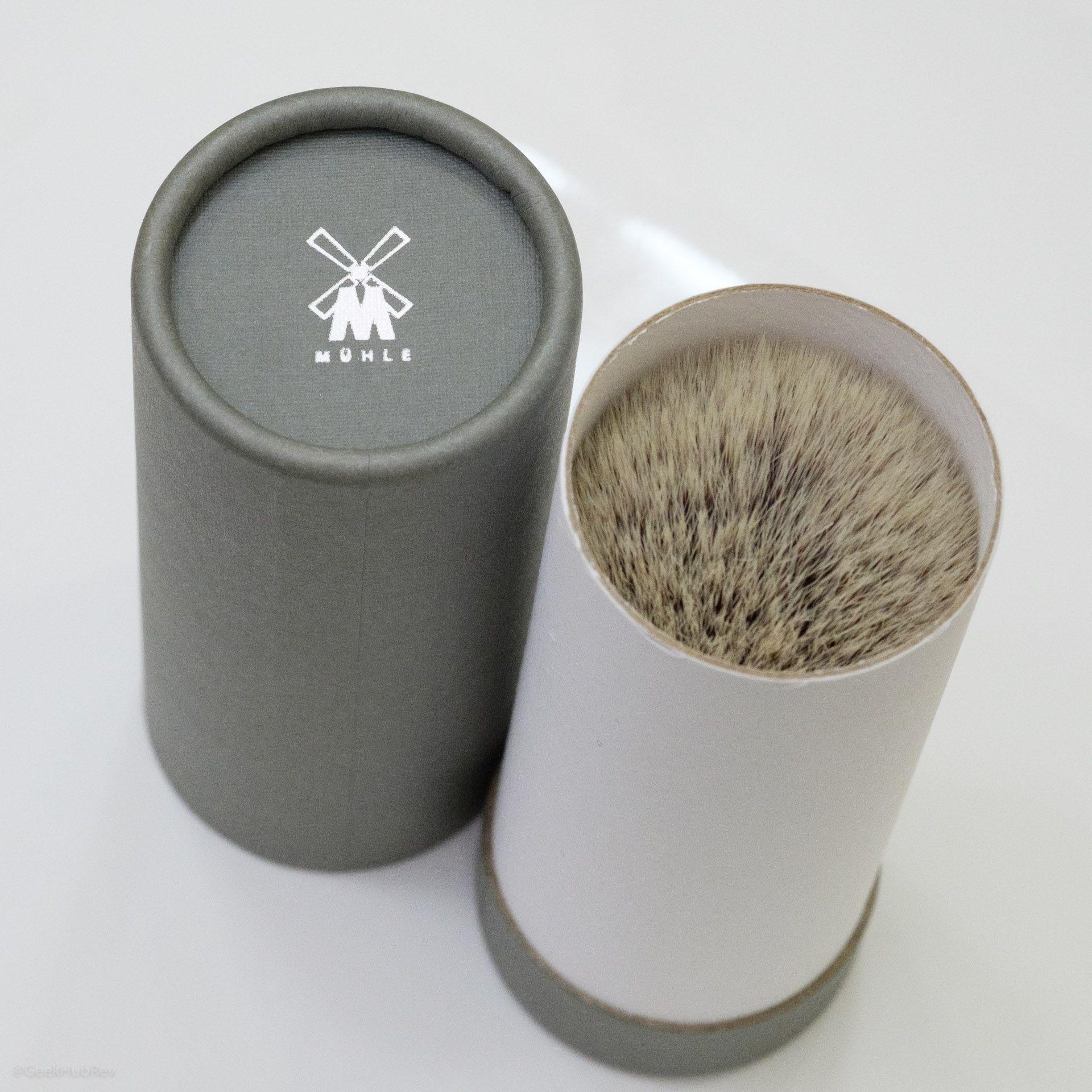 Opakowanie pędzla Mühle Classic 35K256 Synthetic Silvertip Fibres, black