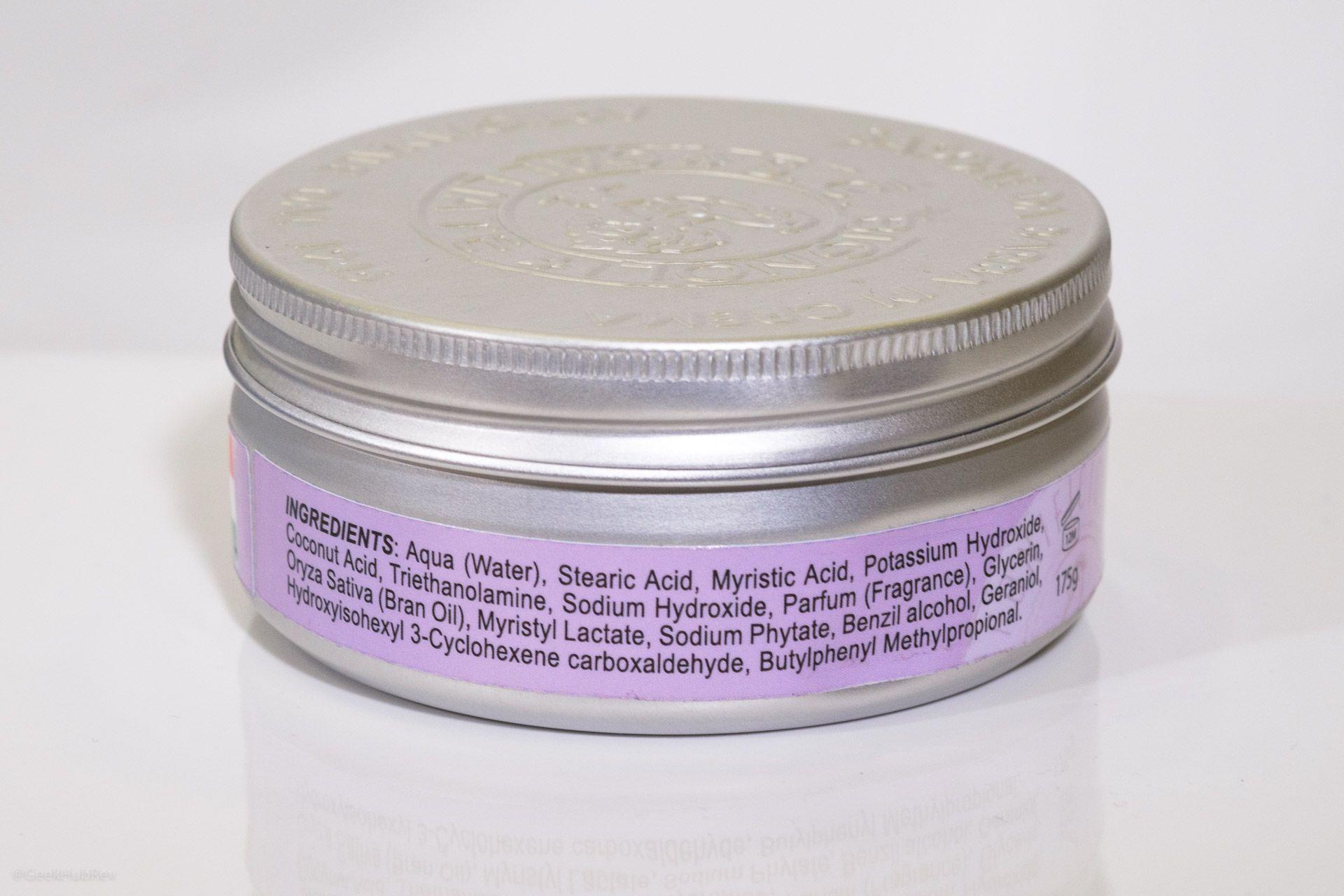 Skład kremu do golenia Saponificio Bignoli Violetta di Parma Shaving Cream (INCI ingredients)
