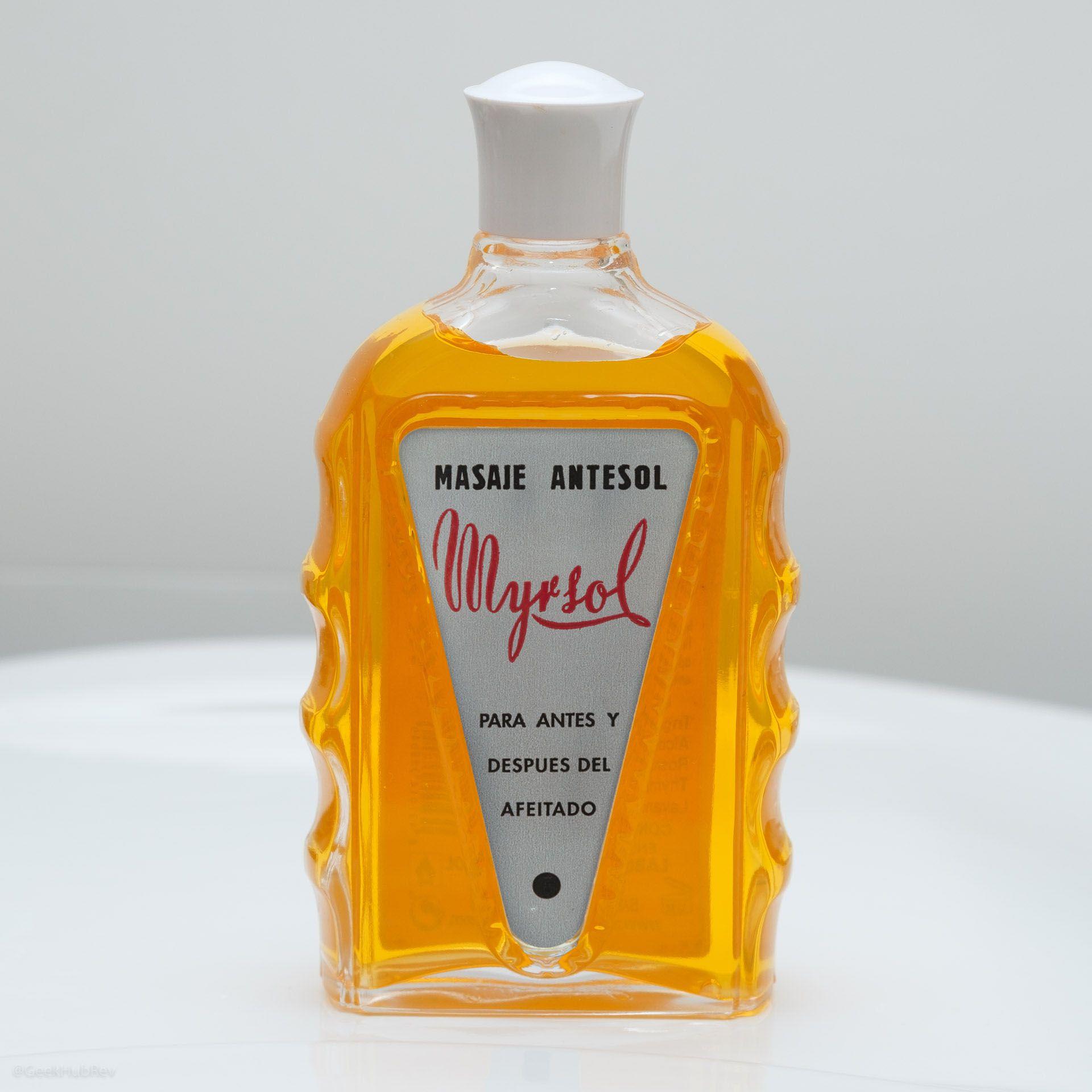 Szklana butelka Myrsol Antesol Pre/Aftershave