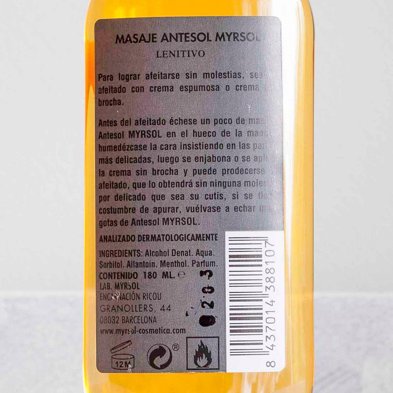 Skład Myrsol Antesol (INCI ingedients)