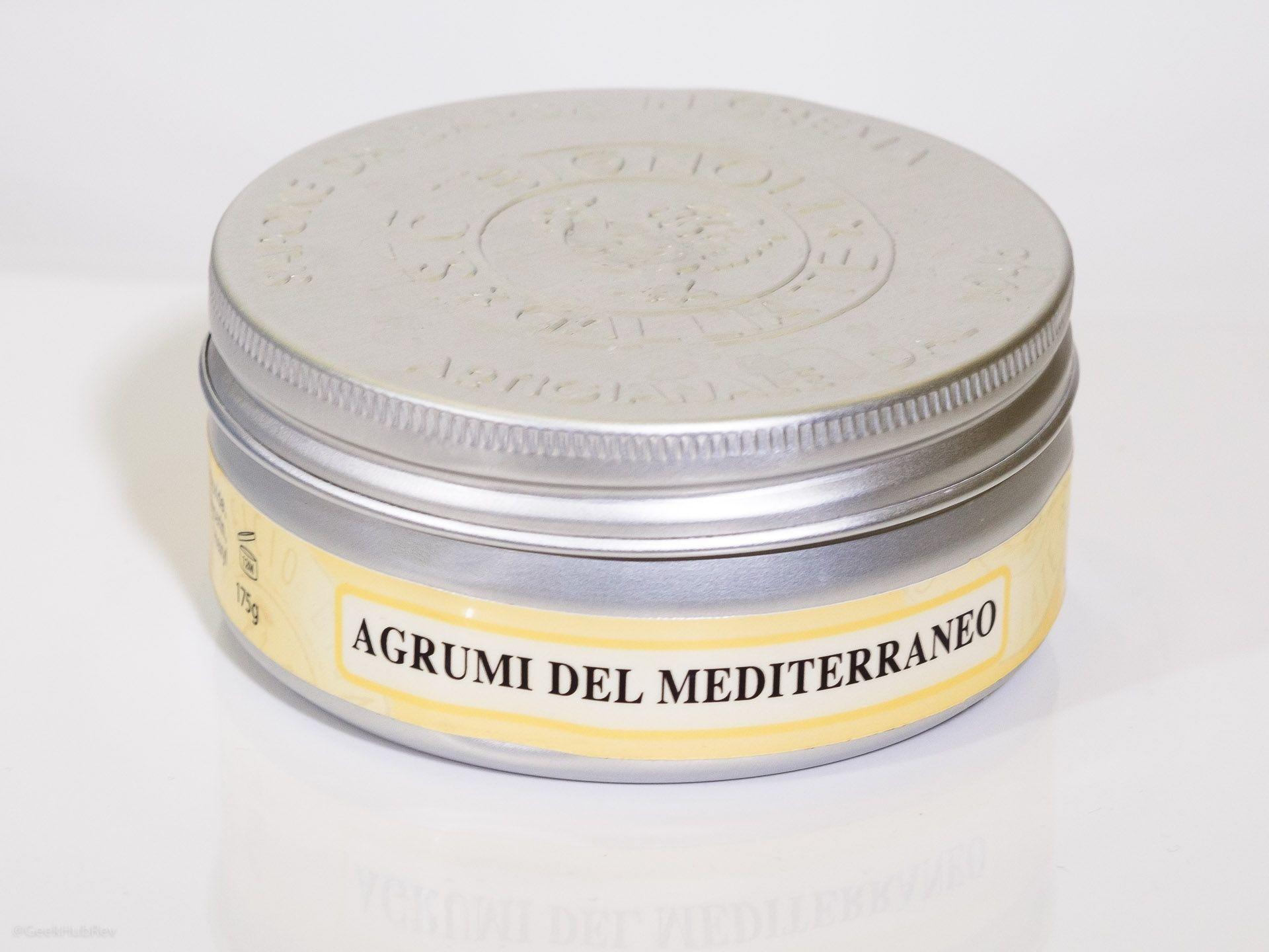 Opakowanie kremu do golenia Saponificio Bignoli Agrumi del Mediterraneo Shaving Cream