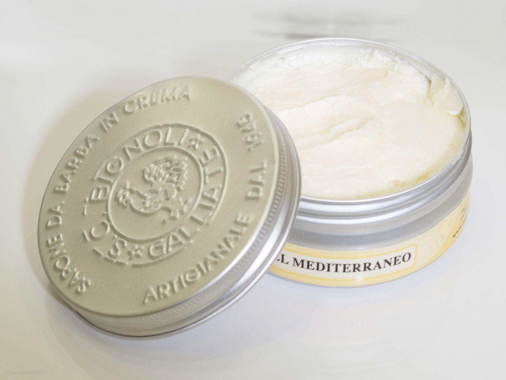 Konsystencja kremu do golenia Saponificio Bignoli Agrumi del Mediterraneo Shaving Cream