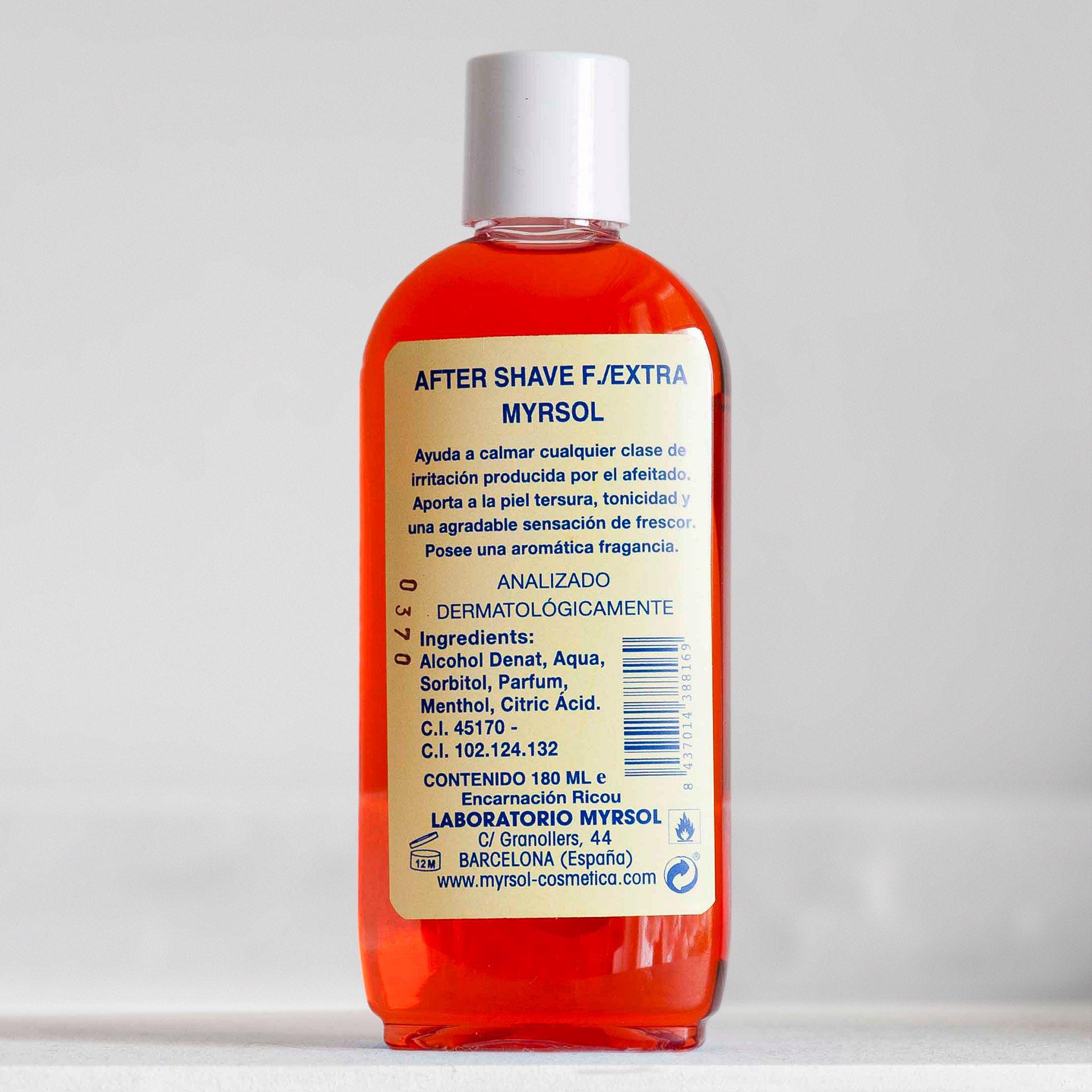 Skład wody po goleniu Myrsol F. Extra After Shave (INCI ingredients)