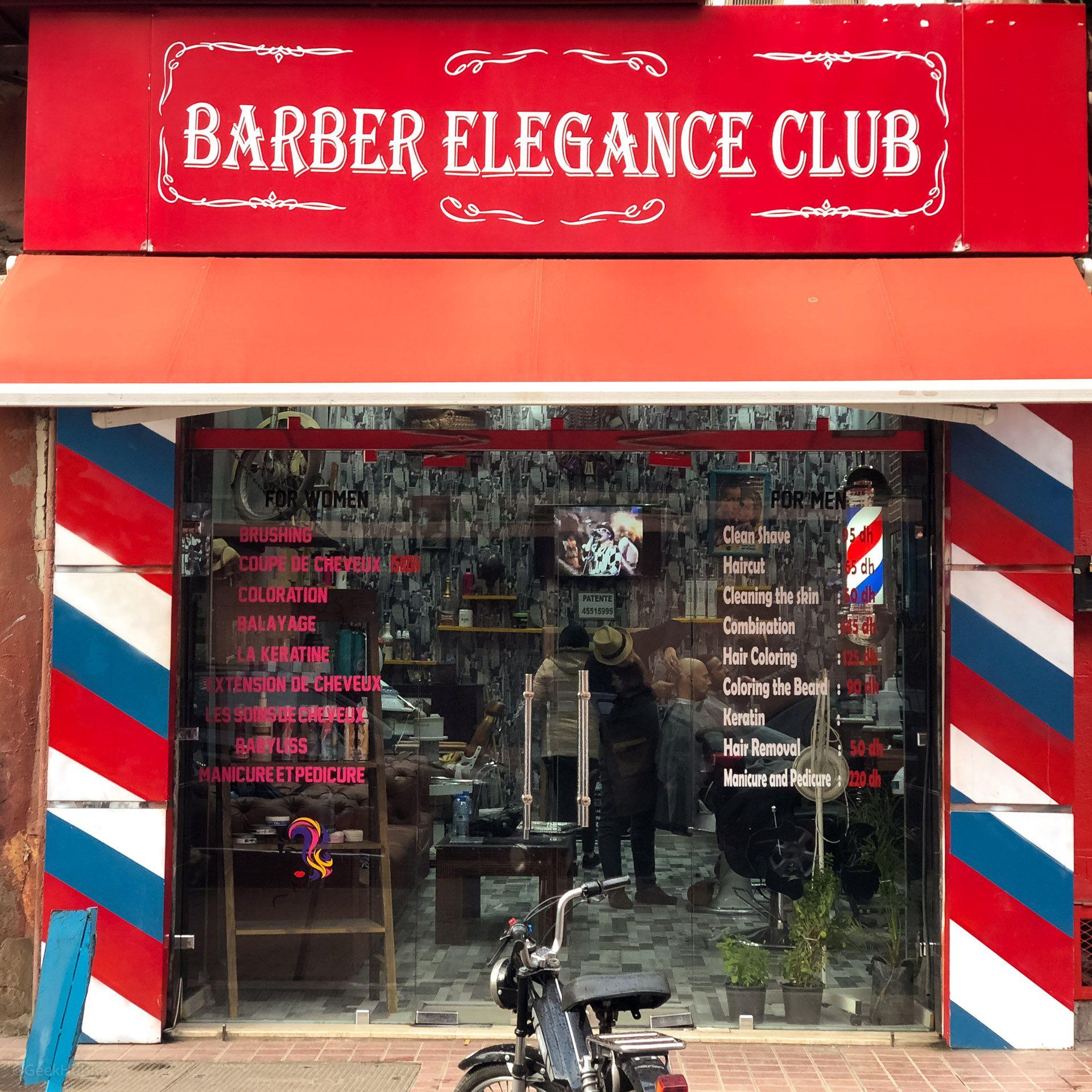 Barber Elegance Club w Marakeszu