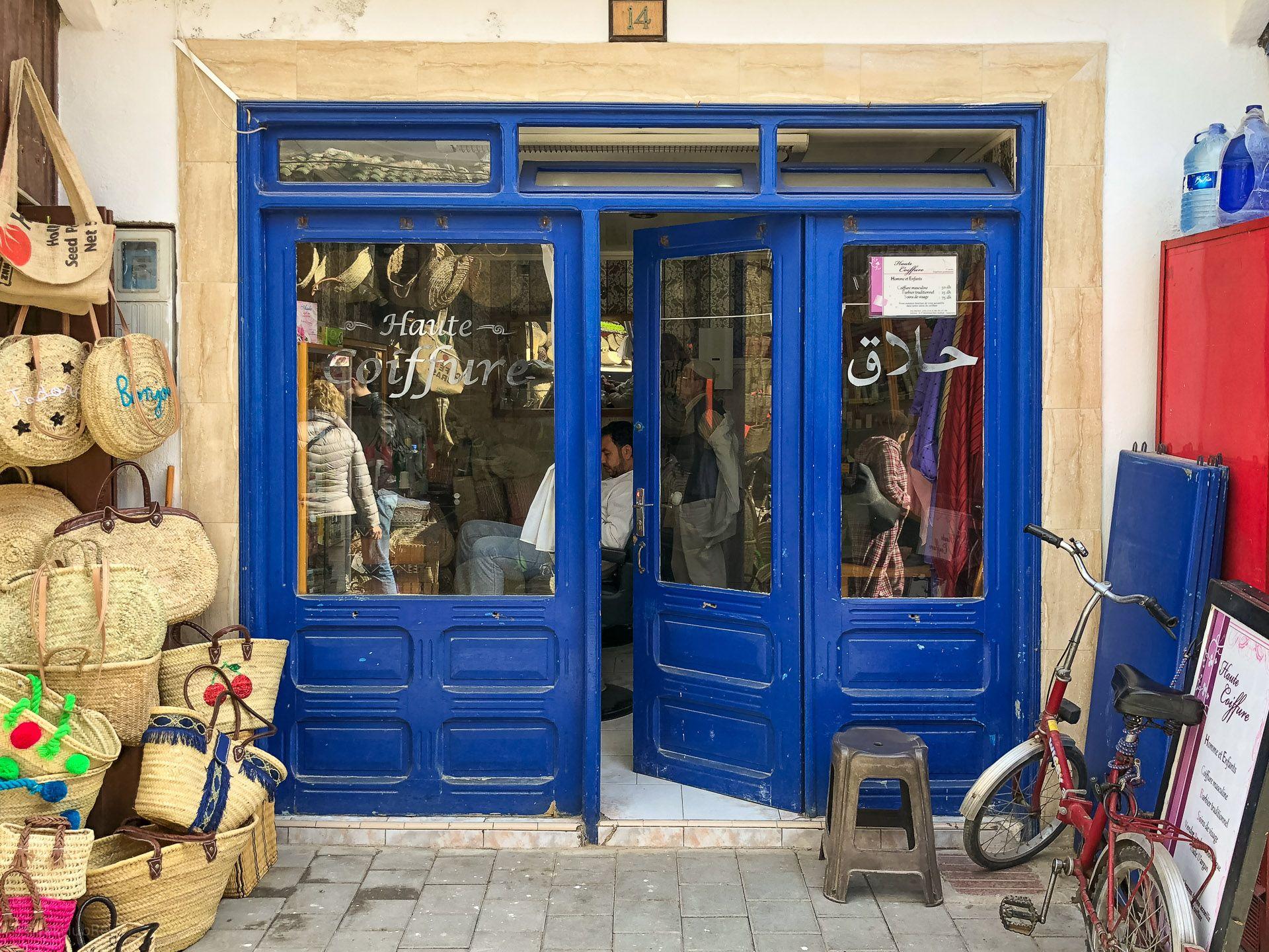 Zakład fryzjerski w As-Suwajra (Essaoira, Marakesz)