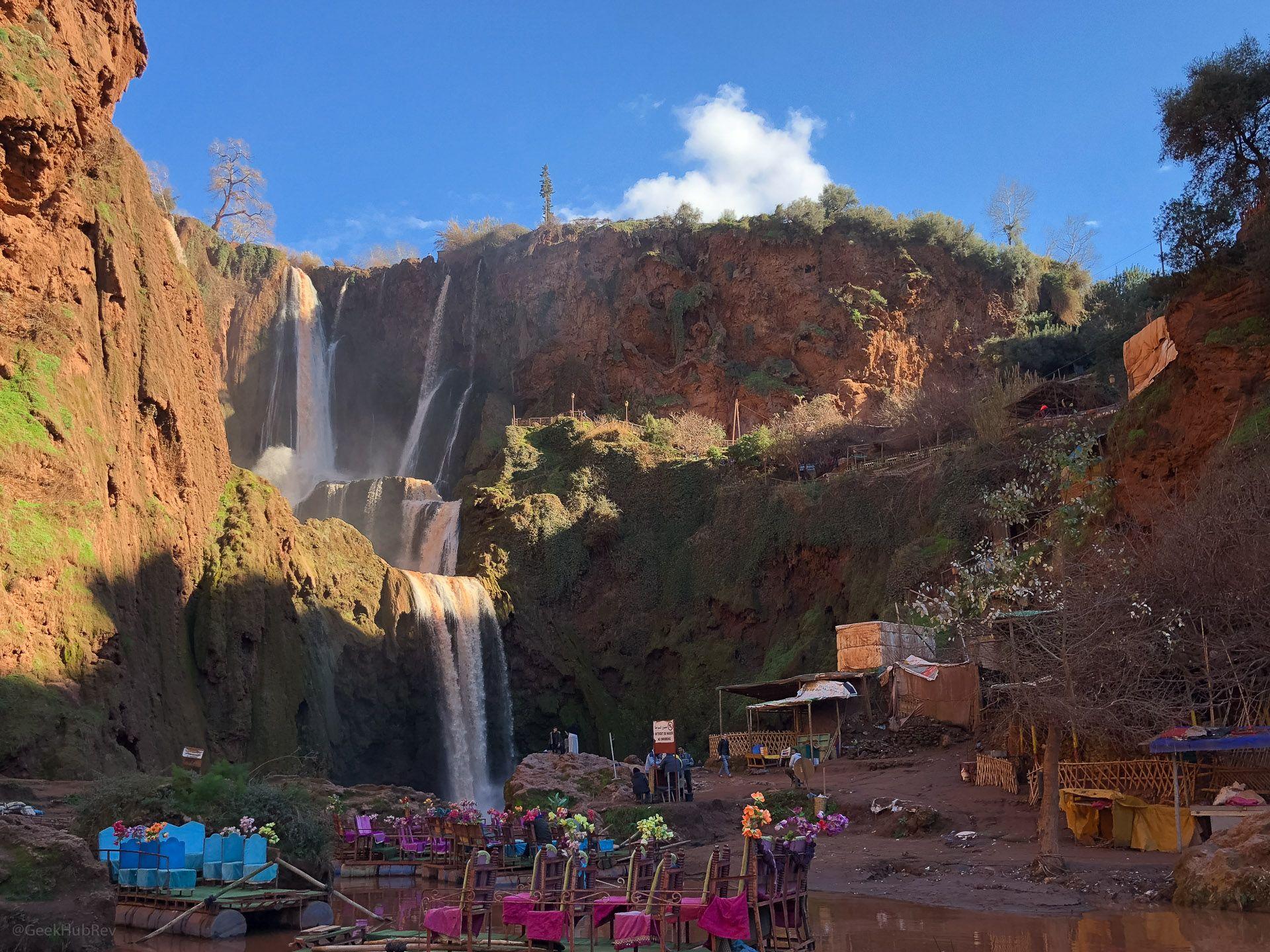 Wodospad w Ouzoud (Maroko)