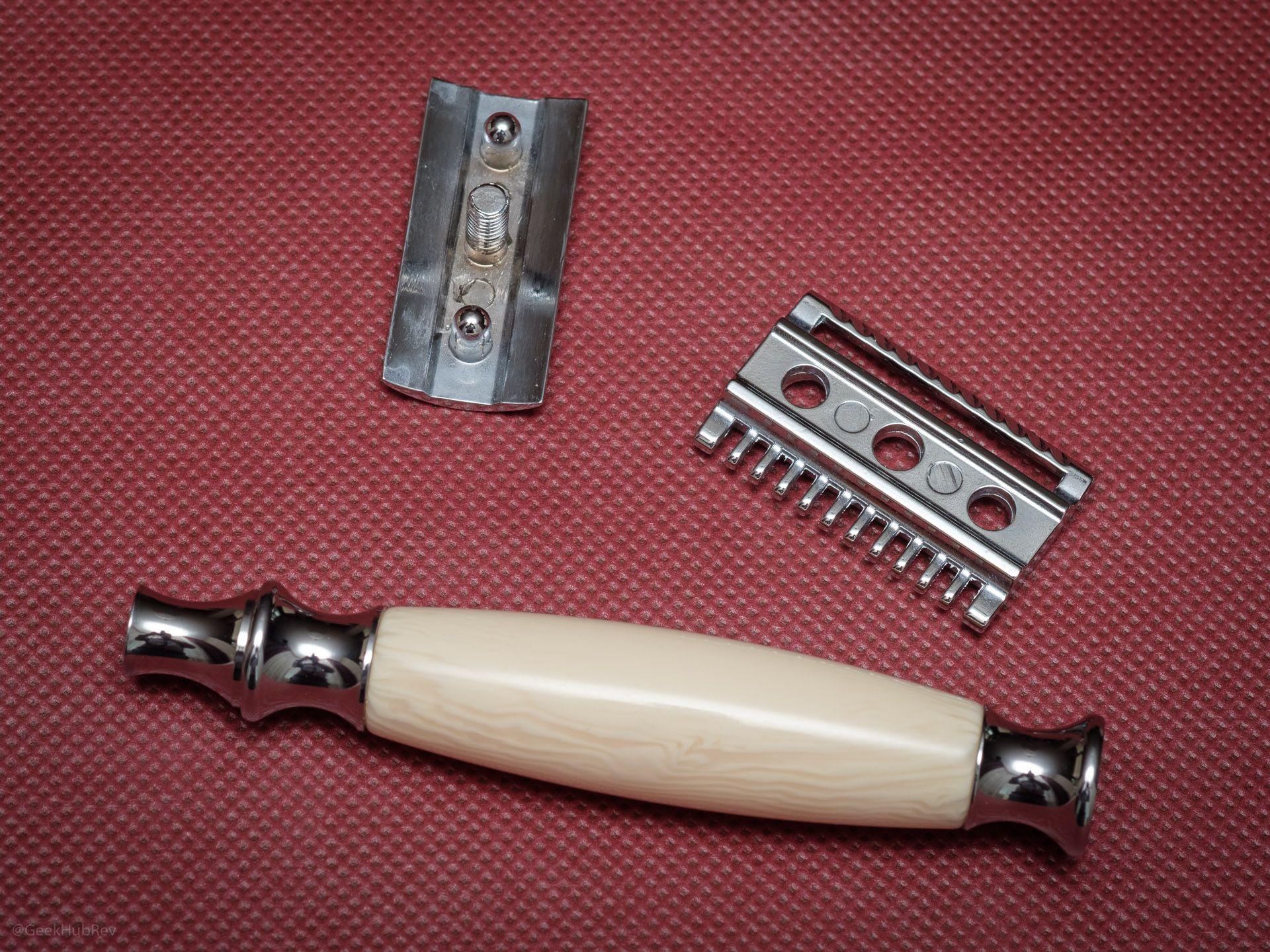 Maszynka do golenia na żyletki Vigshaving DERZ04BL Safety Razor