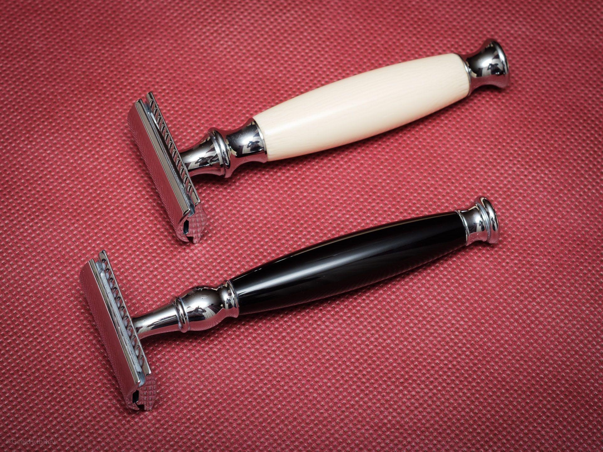 Maszynka do golenia na żyletki Vigshaving DERZ04BL Safety Razor – porównanie z Mühle R44SR Sophist