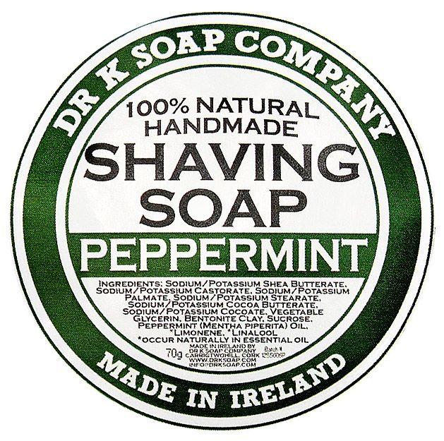 Etykieta mydła Dr K Peppermint