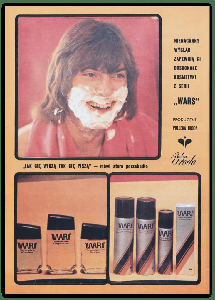 Reklama kosmetyków Wars, Tygodnik Stolica, 10.03.1974 r.