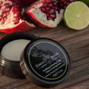 Read more about the article Edwin Jagger Limes & Pomegranate Shaving Soap — recenzja mydła do golenia