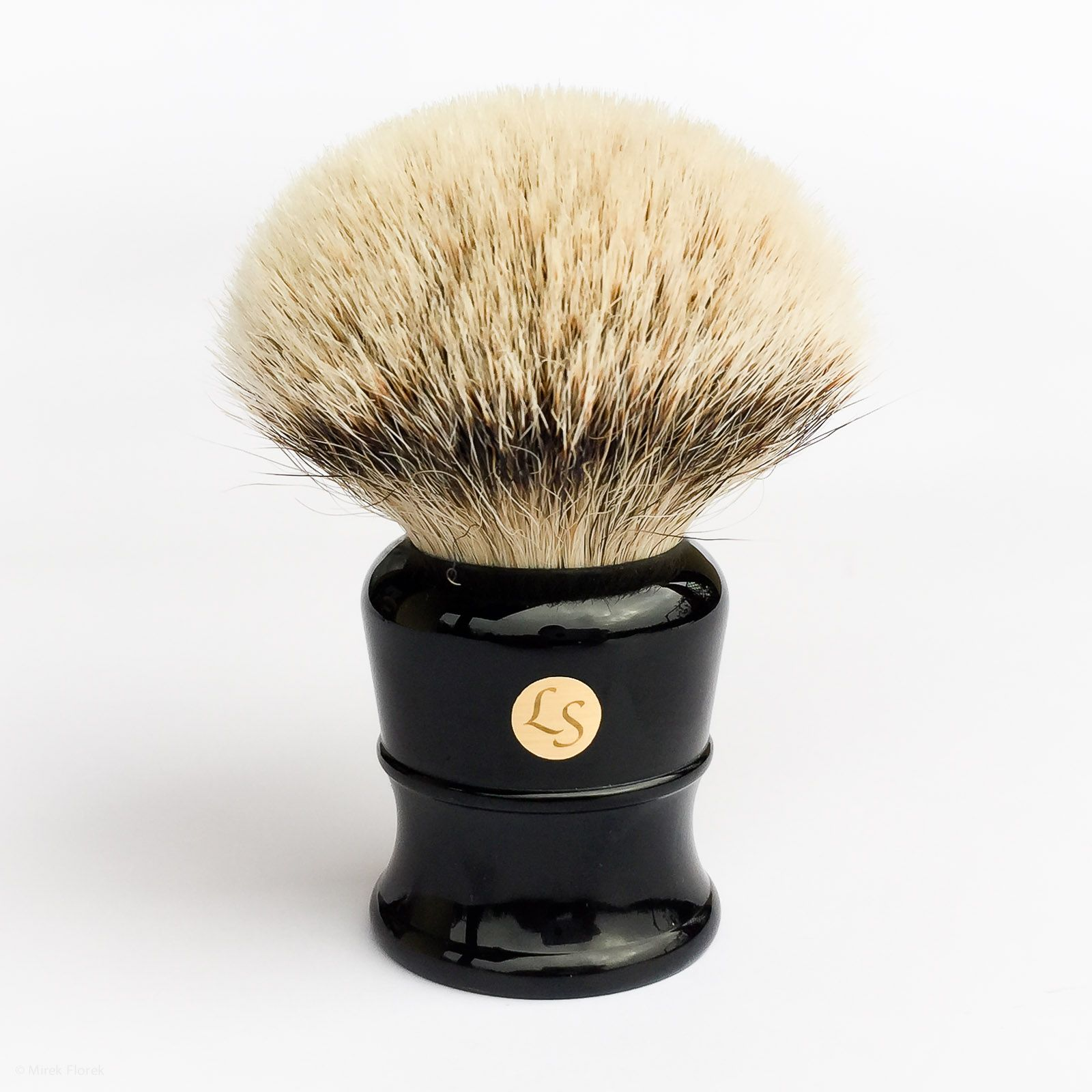 Pędzel LS Silvertip Badger Brush 30 mm po kilku użyciach