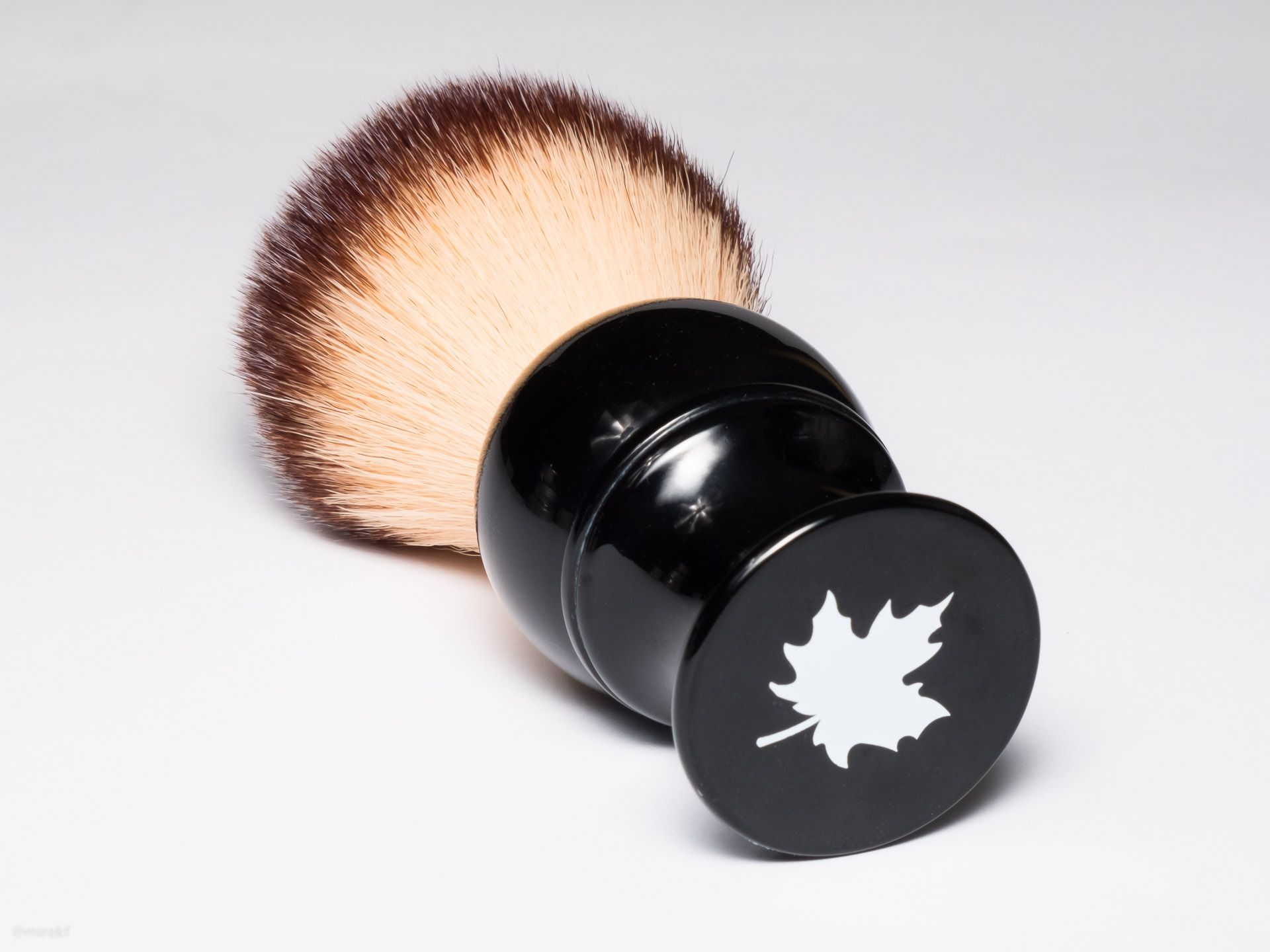 Spód rączki Maggard Razors 24mm Synthetic Shaving Brush, Black Handle