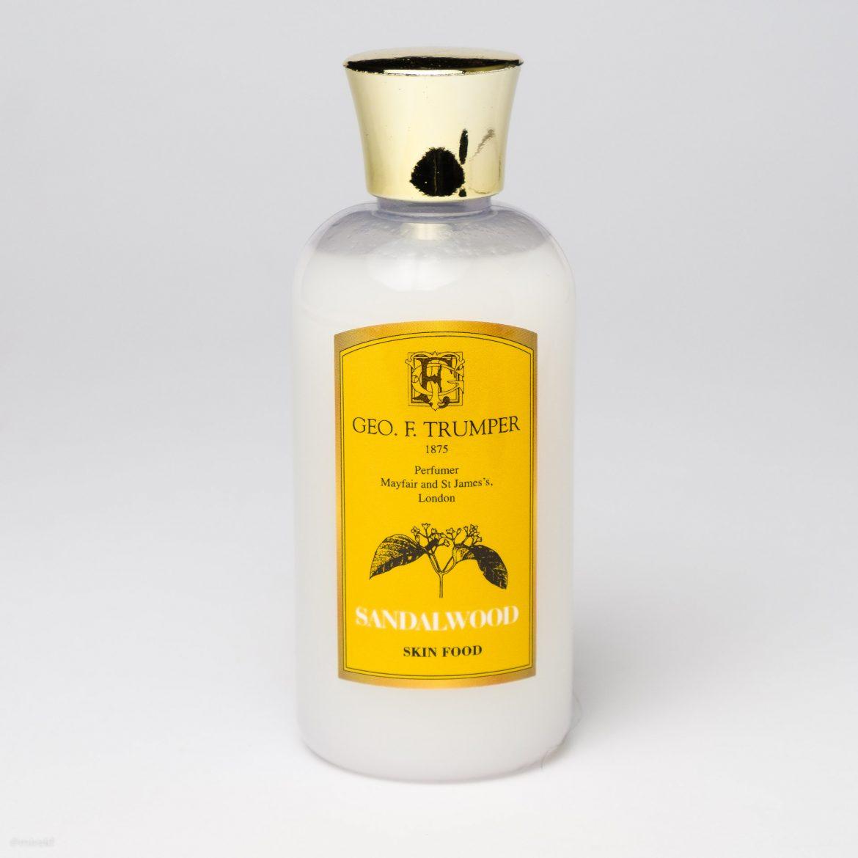 Opakowanie balsamu po goleniu Geo. F. Trumper Sandalwood Skin Food
