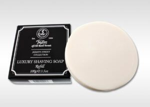 Read more about the article Taylor of Old Bond Street Jermyn Street Shaving Soap –recenzja mydła do golenia