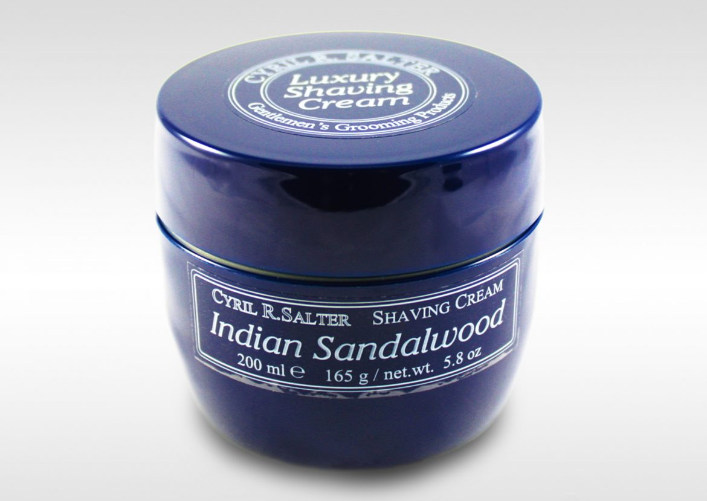 Opakowanie kremu do golenia Cyril R. Salter Indian Sandalwood Shaving Cream
